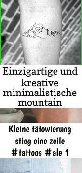 Einzigartige und kreative minimalistische Mountain Tattoo-Ideen für das Beste von Männern – Outdoor – Tattoos