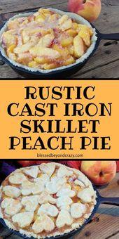 Rustikale Pfirsichkuchen aus Gusseisen –   – Desserts