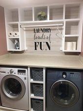 48 wunderbare Waschküche Makeover Design-Ideen   – ausprobieren