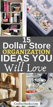 Try these dollar store organization hacks and orga…