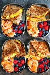 Schinken, Ei und Käse Frühstück Quesadillas