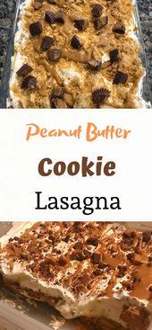 Easy Peanut Butter Cookie Lasagna Recipe