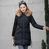 Fashion Hooded Big Fur Coat New Winter Jacket Women Warm Cotton Pad…