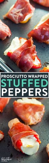 Prosciutto Wrapped Stuffed Peppers | The Bewitchin' Kitchen