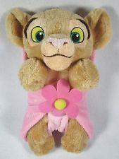 Disney Baby Lion King Purring Nala With Pink Flower Blanket Plush