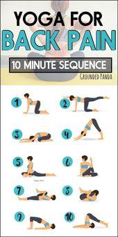 10 Minuten Anfänger Yoga-Routine, um Rückenschmerzen zu erleichtern – #Beginner #Ease #Für Anfänger … – Yoga & Fitness – Annette Dreger