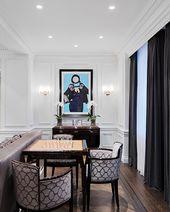 Modernes neoklassizistisches Interieur mit zeitgenössischem Interieur von Britto Charette   – Dekoration İdeas 2019