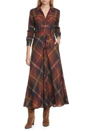 93a18aea3fd73aab7a159a5ff1f0077e - Amazing offer on Polo Ralph Lauren Tartan Long Sleeve Wool Shirtdress online - Allprettytrendy