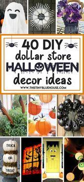 40 besten DIY Dollar Store Halloween Dekoration Ideen