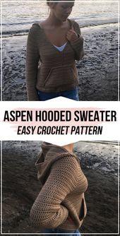 crochet Aspen Hooded Sweater pattern