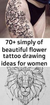 70+ simply of beautiful flower tattoo drawing ideas for women 191