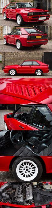 1984 Audi Sport Quattro / Deutschland / Homologation Gruppe B / Rallye / 302 PS / Rot …   – Autos und Motorräder