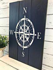 Compass Rose – Nautical Compass Sign – Nautical Decor – Beach House Decor – Coastal Decor – Adventure Sign – Travel Decor – Nautical Nursery   – Marie's