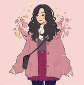 15+ best Ideas flowers drawing girl illustrations