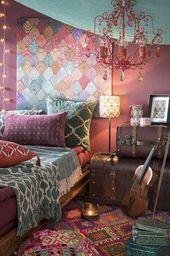 60 Inspiring DIY Boho Chic Decor Ideas on a Budget – bedroom wust