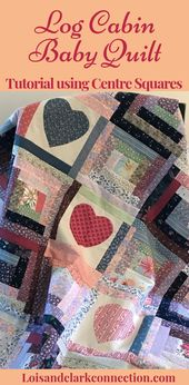 Make a Log Cabin Baby Quilt, a Quilt Pattern for Beginners, a Tutorial