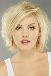 Messy Carefree Layered Straight Blonde 10 Inches Lace Front Bob Wig 100% Human Hair