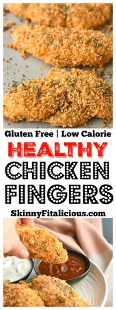 These Healthy Chicken Fingers have the same crunch of fried chicken for a fracti…
