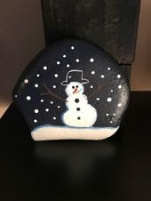 My First attempt at a painted rock …My mind goes…
