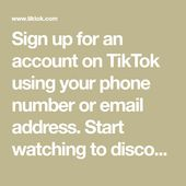 Sign Up For An Account On Tiktok Using Your Phone Number Or Email Address Start Watching To Discover Real People An Skin Care Hair Care Real Video Real People