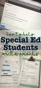 How to Write Emails – Supports + Writing Prompts for Special Education Students