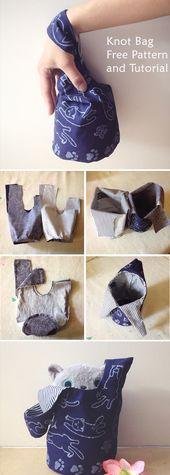 Japanese Knot Bag Tutorial