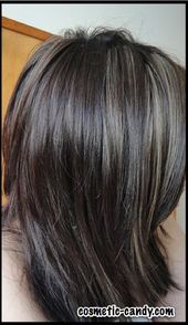 Gray highlights in brown hair hair pinterest pmusecretfo Choice Image