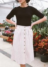 """Hawkins Button Skirt """"LACEYH10"""" for 10% off! Modest women's outfits women …"""