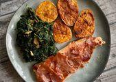 Trucha al horno con jamón   – Cocina – Pescado