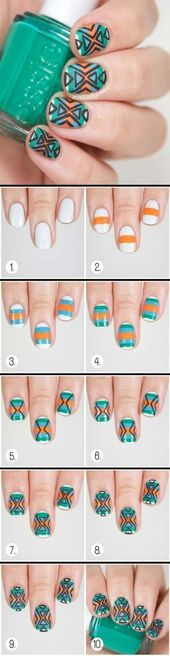 19+ Trendy Nails Design Sommer Einfache Nail Art – :::: Nail Nail :::: – #Design …   – Nageldesign Ideen