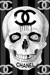 Chanel Skull Canvas Print by Studio One – Skulls