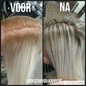 Die Wachstumsfarben dieses Kunden waren bei einem anderen Friseur ausgefallen. Wir haben…   – Teksten