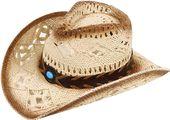 Der Sonnenhut der Unisexmänner des Topper breiter Rand gesponnener westlicher Strohcowboyhut  – Products