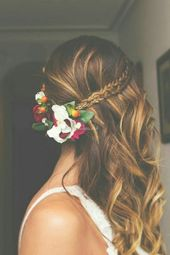 Mittellange Frisur Hochzeitsfrisur oder ein beeindruckender Look   – schone Zopfe