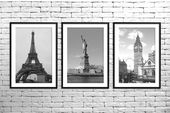 New York, Paris, London, White and Black, Photography, Wall Art, Printable, Home Décor, Digital Download   – Products