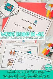 Wortfamilienaktivitäten für A Words – Education