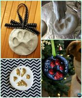 DIY Puppy Paw Print Salt Dough Christmas Ornament Instruction –Paw Print Craft Ideas Projects