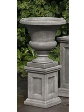 Campania International Cast Stone Mt. Airy Urn w/ Low Lenox Ped