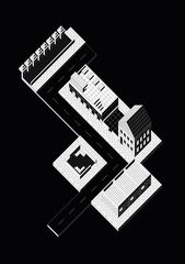 Illustrator Workspace The Architecture of the Workspace: Axonometric Drawings by Peter Judson – SOCK...