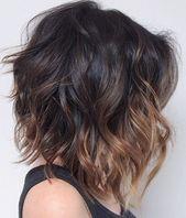 35 Ideen für kurze Ombre-Haarfarben für Brünette, die für 2019 im Trend liegen – Spät …   – Hair
