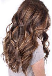 49 Schöne hellbraune Haarfarbe für einen neuen Look Wunderschönes Balayage-Haar …   – Peinados