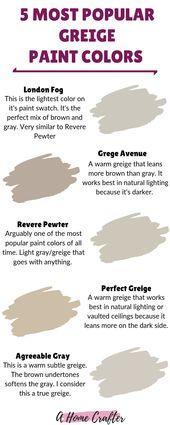 Popular Greige Paint Colors    – Other Paint Colors