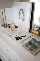 50 einfache DIY Apartment Dekoration auf einem Budget – Lichterkette ideen – Schminktisch