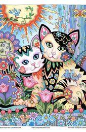 Best_Friends_color_M-Sarnat.jpg   – Art Coloring Pages – #Art #BestFriendscolorM… – Katzen Love