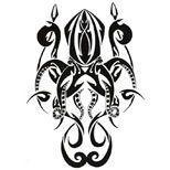 Tribal octopus tattoo design,  #Design #Octopus #Tattoo #Tribal #tribalOctopusTa…