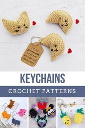 Crochet Key Chain Ideas {that make quick and easy handmade gifts!}