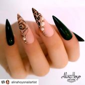 """Nails top master💅🏼 on Instagram: """"#Repost @alinahoyonailartist with @get_repost ・・・ Take a walk on the wild side 🐆…"""""""