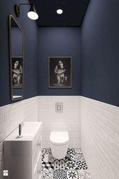 93 Cool Black And White Bathroom Design Ideas oneonroom