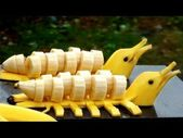 Wie man Bananendekoration macht – #banana #Dekoration #foodcarvingcucumber   – Food Carving