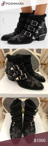 Chloe Susanna shearling boots